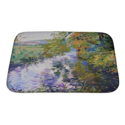 Art Beta Fall Landscape in Lower Saxony Bath Rug Size: Small