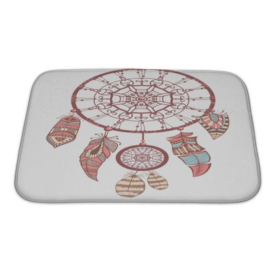Tribal Dream Catcher Romantic Bath Rug Size: Small