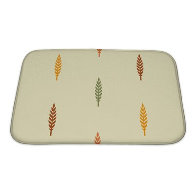 Leaves Various Silhouettes on Light Bath Rug Size: Small