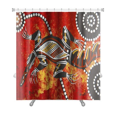 Animals Austarlian Aboriginal Style Premium Shower Curtain