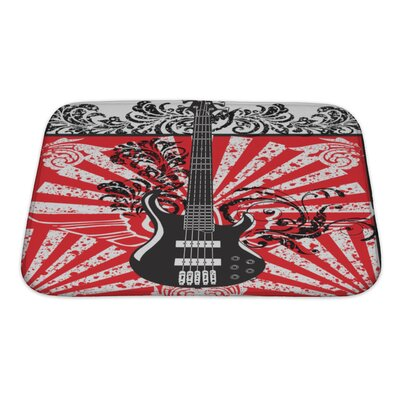 Instruments Electric Guitar Bath Rug Size: Small