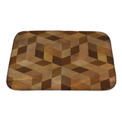 Delta Vintage Geometric Bath Rug Size: Small, Color: Sand/Brown