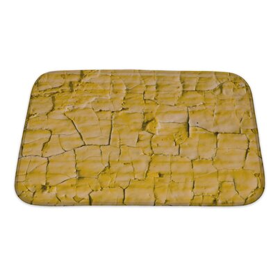 Earth Cracked Paint Bath Rug Size: Small
