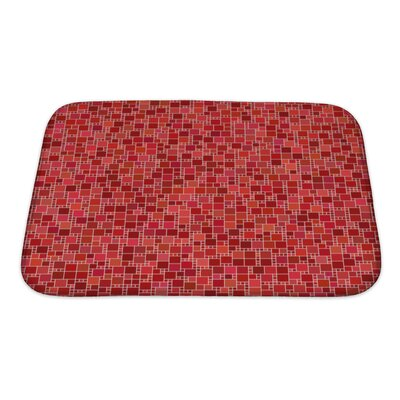 Kilo Square Mosaic Pattern Bath Rug Size: Small