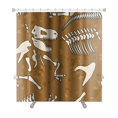 Dinosaurs Fossil Dinosaur Premium Shower Curtain