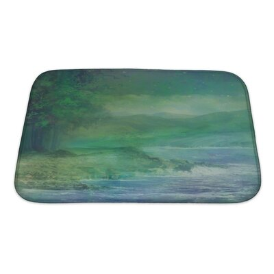 Art Alpha Night Forest in Mountain Bath Rug Size: Small