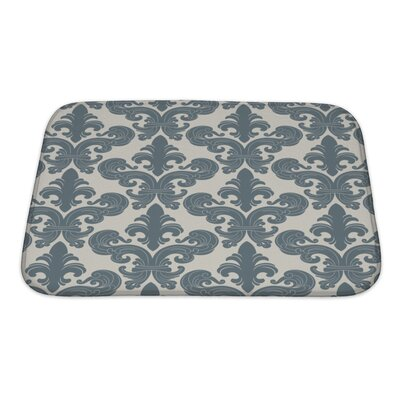 Alpha From a Floral Ornament, Fashionable Modern Wallpaper or Textile Bath Rug Size: Small