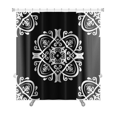 Primo Traditional Oriental Elements Premium Shower Curtain