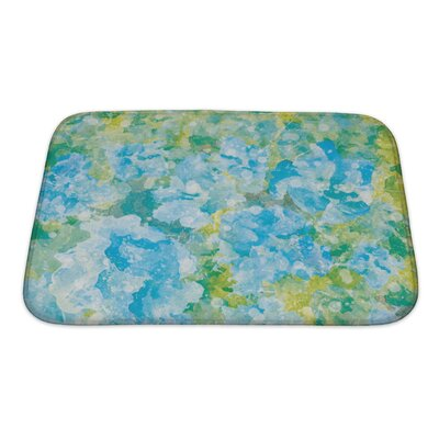 Art Primo Abstract Watercolor Flower Bath Rug Size: Small