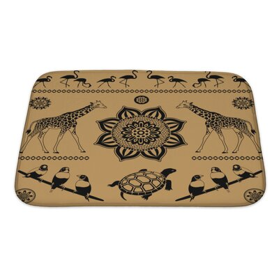 Animals Decorative Pattern from Animals and Birds Bath Rug Size: Small