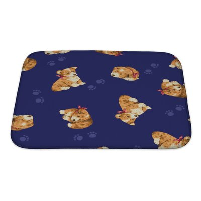 Animals Puppy Love Bath Rug Size: Small