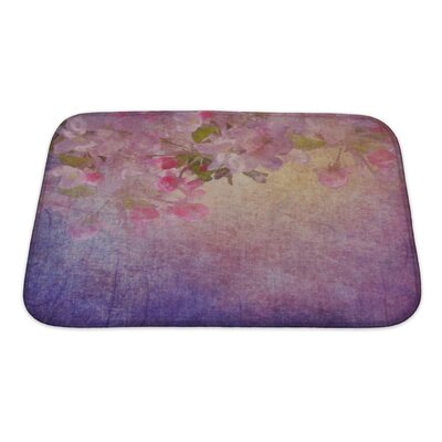 Simple Spring Apple Tree Flowers Bath Rug Size: Small