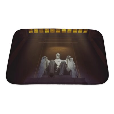 Patriotic Lincoln Memorial, Washington, DC Bath Rug Size: Small