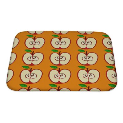 Fruit with Apples and Leaves Isolated Bath Rug Size: Small
