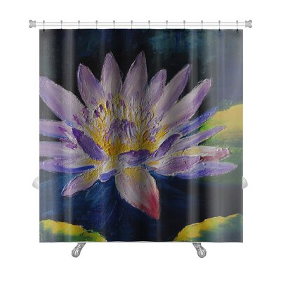 Flowers Lotus Flower Abstract Premium Shower Curtain