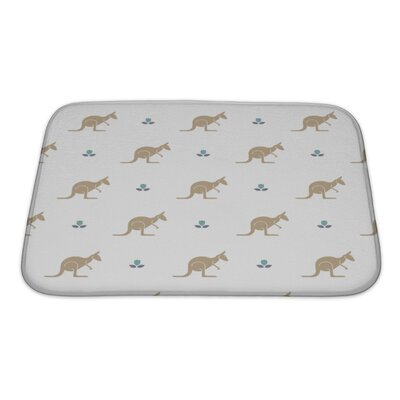 Animals with Flower and Kangaroos Australia Bath Rug Size: Small