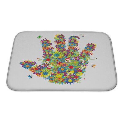 Human Touch Floral Hand Shape See also Floral Style Bath Rug Size: Small