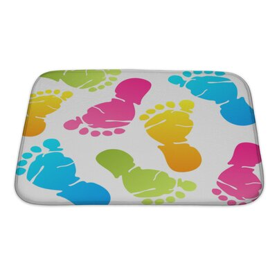 Human Touch Funny Baby Foot Prints Bath Rug Size: Small
