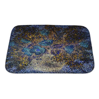 Gecko Gentle Big and Small Flowers in a Flowerpot Bath Rug Size: Small