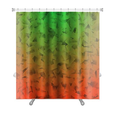 Simple Abstract Gradient in Cubism Style Premium Shower Curtain