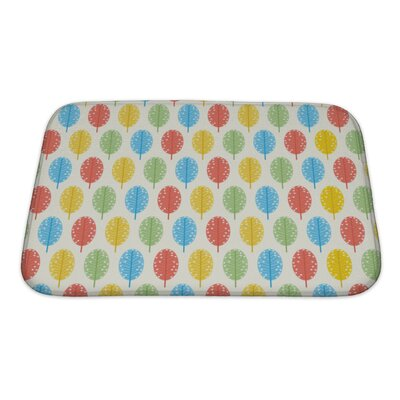 Simple Retro Leaf Pattern Bath Rug Size: Small
