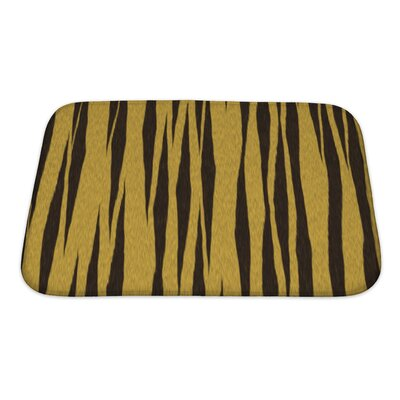 Art Beta Abstract Tiger Close Up Bath Rug Size: Small