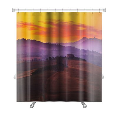 Landscapes Landscape in Tuscany at Sunset in Summer Premium Shower Curtain