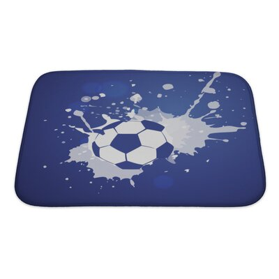 Soccer Grunge Style Football Bath Rug Size: Small