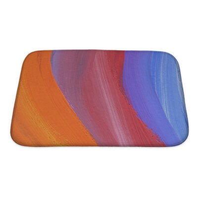 Art Primo Abstract Acrylic and Watercolor Painted Bath Rug Size: Small
