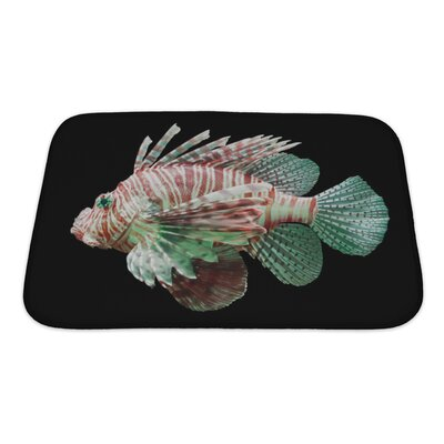 Fish Pterois Volitans, Lionfish Bath Rug Size: Small
