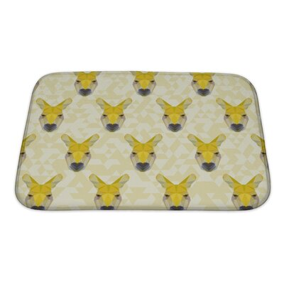 Animals Abstract Polygonal Kangaroo Bath Rug Size: Small