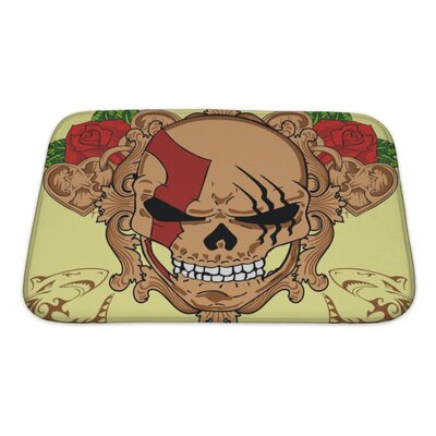 Danger Skull Bath Rug Size: Small