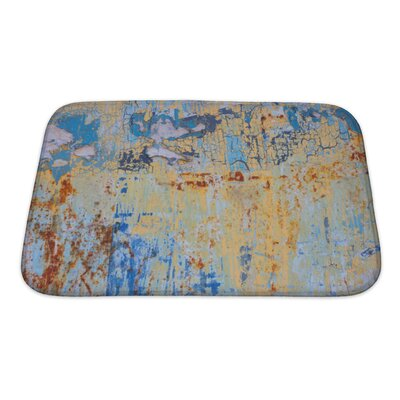 Art Primo Rusty Colorful Metal with Cracked Paint Bath Rug Size: Small