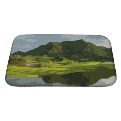 Landscapes Landscape Backdrop Abstract Art Bath Rug Size: Large