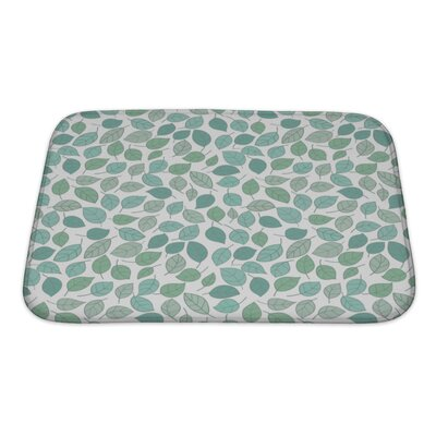 Leaves Stylized Leaf Pattern Bath Rug Size: Small