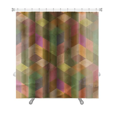 Delta Vintage Pattern Abstract Premium Shower Curtain Color: Multi