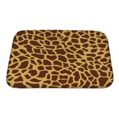 Cappa Giraffe-Shaped Monsaic Bath Rug Size: Small