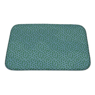 Charlie Summer Leafs Bath Rug Size: Small