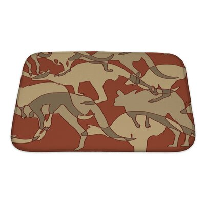 Animals Kangaroo Repeating Bath Rug Size: Small