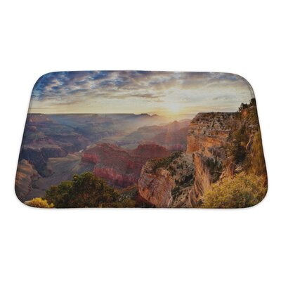 Landscapes Grand Canyon Sunrise, Horizontal View Bath Rug Size: Small