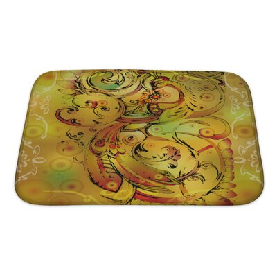Art Touch Firebird with Crown and Branches Bath Rug Size: Small