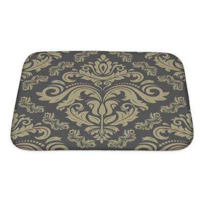 Slide Damask Ornament Pattern Bath Rug Size: Small