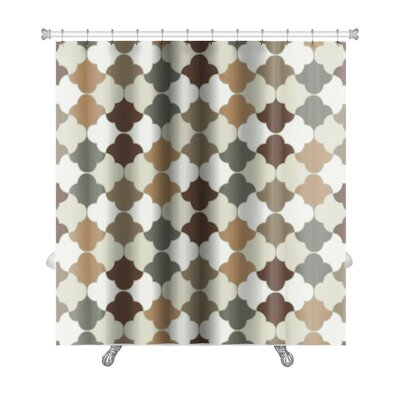 Gamma Islamic Tiles Premium Shower Curtain