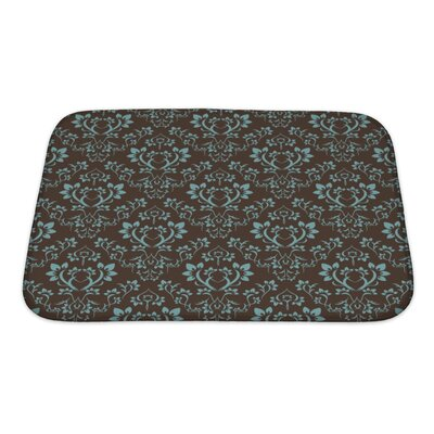 Alpha Floral Bath Rug Size: Small
