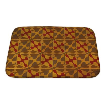 Gamma Vintage Pattern Geometric Bath Rug Size: Small, Color: Brown/Sand