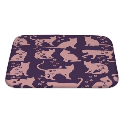 Animals Cat Bath Rug Size: Large
