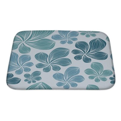 Nature Beautiful Tropical Leaf Eps10 Bath Rug Size: Small