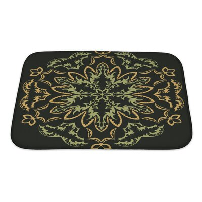 Slide Abstract Flower Bath Rug Size: Small