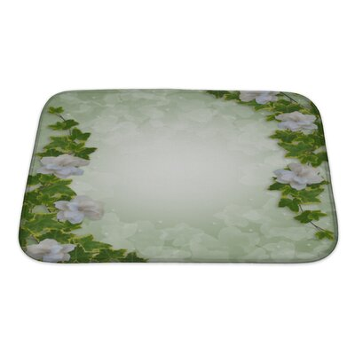 Alpha Flowers Bath Rug Size: Small