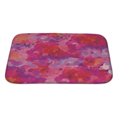 Art Alpha Floral Watercolor Abstract Bath Rug Size: Large